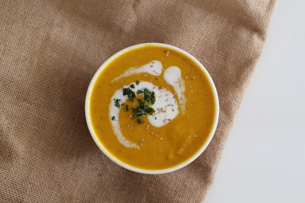 recette soupe de butternut et curry