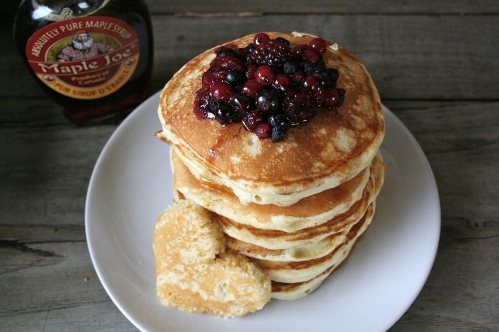 recette pancakes moelleux sirop erable