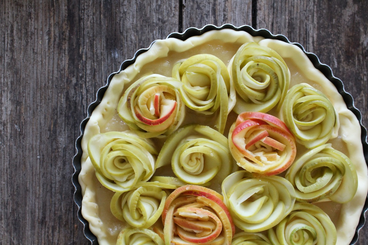 Tarte Aux Pommes Fleurie L Instantflo