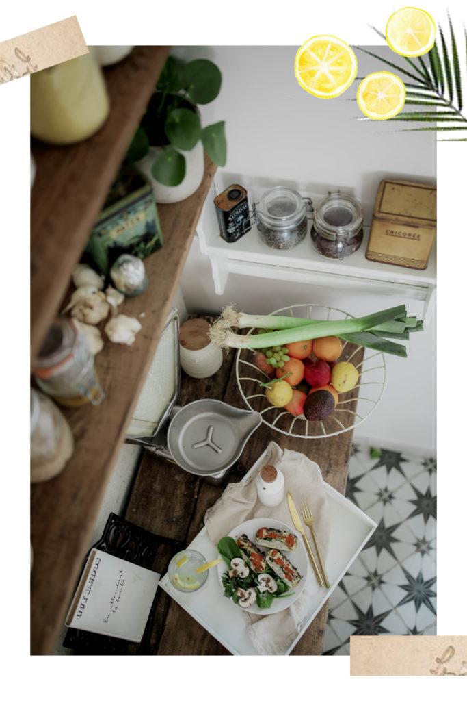 Flan aux légumes et à l'andouille
